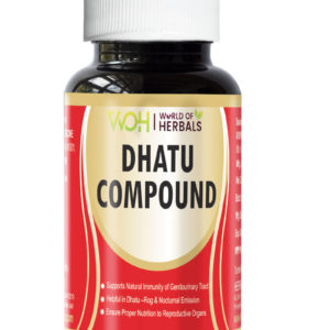 Dhatu Compound Ayurvedic capsules for Dhant, Dhatu rog, Night Fall and Sperm in Urine.