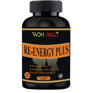 Re Energy Plus Ayurvedic Herbal capsules for Sex Power, Erectile Dysfunction, Pre Mature Ejaculation, Stamina, Low Libido, Vitality and Vigor
